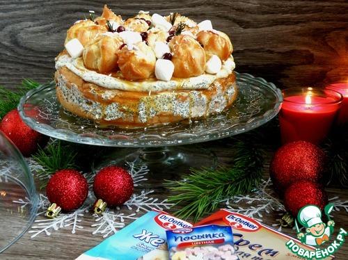 Заварной торт «Золотые купола»