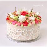 """Торт """"Розы под снегом"""""""