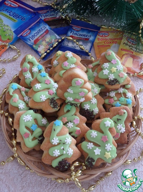 """Творожное печенье """"Ёлочка"""""""