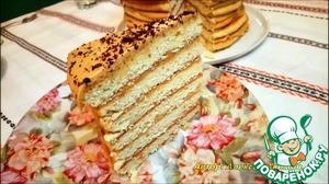 """Рецепт: Торт """"Рыжик по-деревенски"""""""