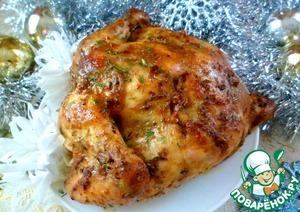 Рецепт: Сочная курица, запеченная в духовке