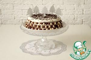 Рецепт: Шоколадно-сметанный торт с пряной вишней