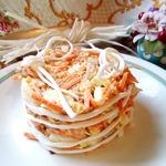 Салат с сулугуни и корейской морковью