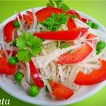 Салат из дайкона с болгарским перцем