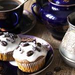 Кекс с рикоттой и кофе