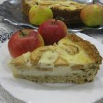 Овсяный пирог с яблоками в заливке