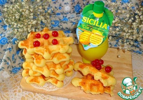 Лимонно-творожные вафли