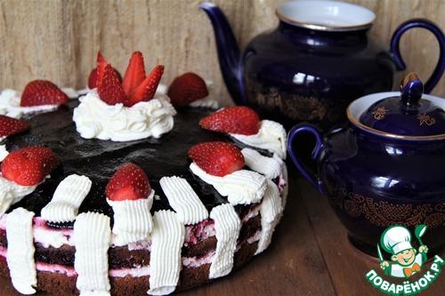 """Летний торт """"Красное и черное"""""""