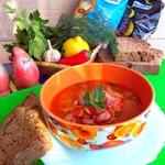 Пряный фасолево-рисовый суп