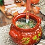 Деревенская гречневая похлебка с салом