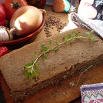 Запеченный паштет из чечевицы с грибами