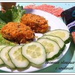 Постные овощные котлеты с чечевицей