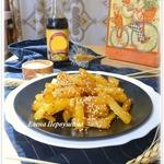 Картофель в соевом соусе с кунжутом