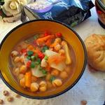Суп из нута и овощей