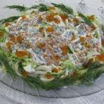 """Салат с кальмарами """"Праздничный"""""""