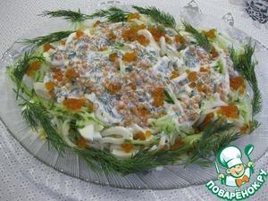 """Рецепт: Салат с кальмарами """"Праздничный"""""""