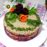 Свекольный салат с перловой крупой