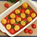 Постные тефтели в томатно-овощном соусе
