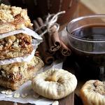 Крошковый пирог с инжиром
