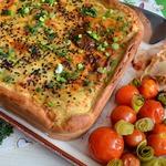 Пирог с форелью и картофельным пюре