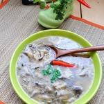 Корейский кисло-острый суп с вешенками