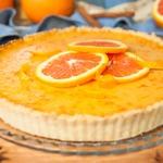 Тарт с начинкой из красных апельсинов