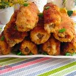 Куриные рулетики с печенью и грибами
