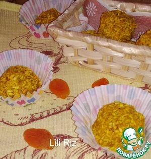 Рецепт: Банановые конфеты с сухофруктами