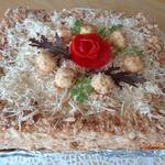 Слоеный пирог с копченым сыром