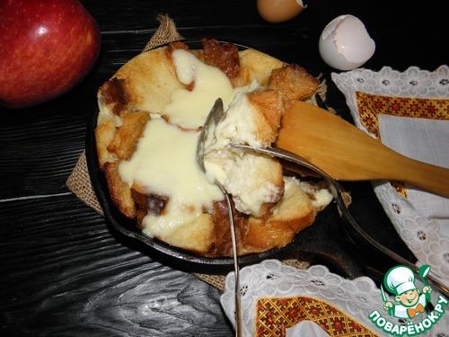Яблочная карамельная страта