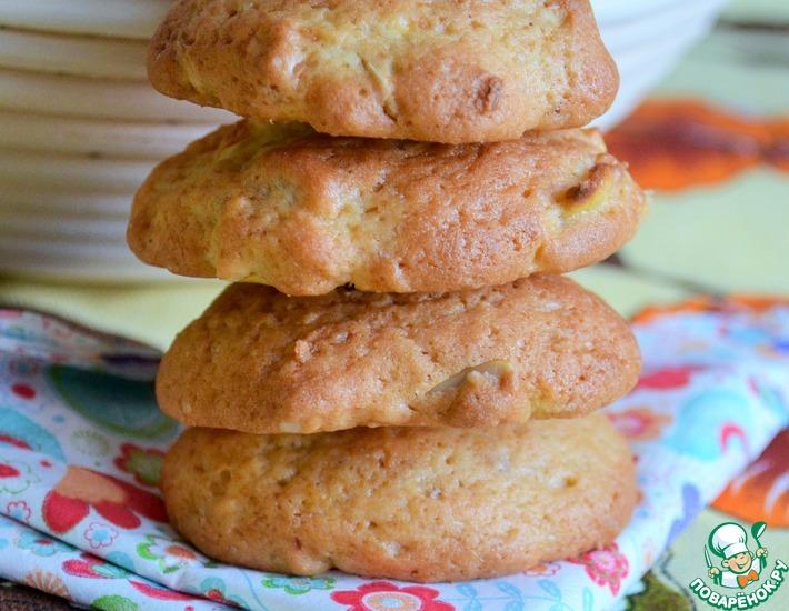 Рецепт: Яблочно-ореховое печенье