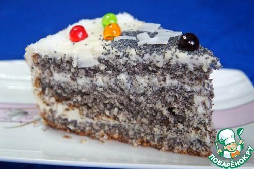 Кокосово-маковый торт