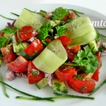 Овощной салат с маковой заправкой