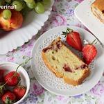 Клубнично-йогуртовый кекс