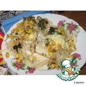 Рецепт Рыбное филе, запеченное в винном соусе