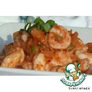 Рецепт Креветки и мидии с томатным соусом