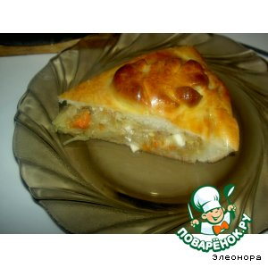 Рецепт Пирог с яично-капустной начинкой