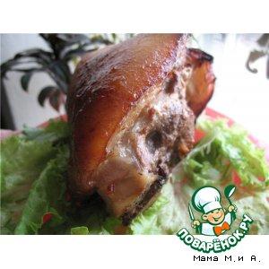 Рецепт Свиная рулька запеченная