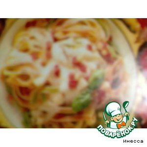 Таглиателле с ветчиной и сыром рецепт с фото пошагово на Новый Год