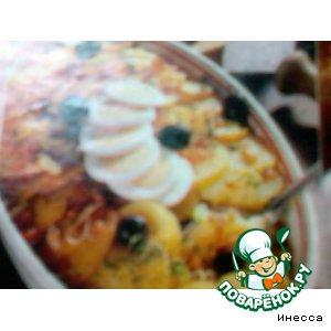Простой рецепт приготовления с фотографиями Треска под картофельной