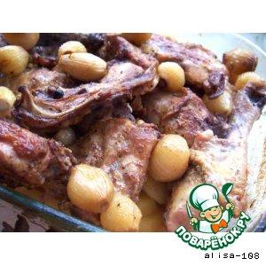 Рецепт Курица с луком и картофелем
