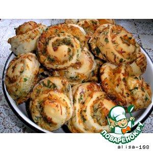 Рецепт Чесночные булочки с сыром и зеленью