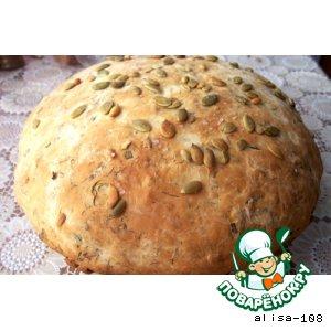 Рецепт Домашний хлеб с семечками