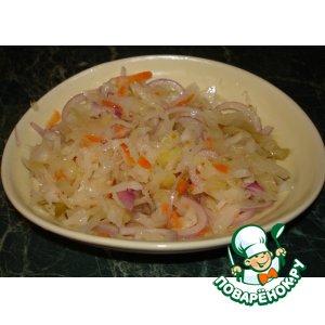 Рецепт Квашеная капуста без уксуса