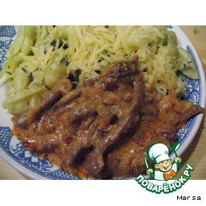 Рецепт Жаркое из индейки с соусом из красного нежгучего перца