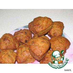 Рецепт Тыквенные кексы с орехами