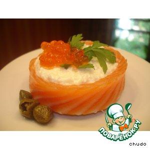 Рецепт Закуска из форели с сыром
