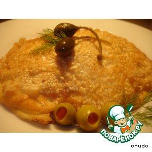 Рецепт Куриная отбивная в льезоне с кунжутом