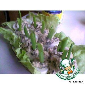 Яйца, фаршированные грибами вкусный рецепт с фотографиями