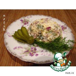 Салат с кальмарами-2 пошаговый рецепт приготовления с фото как приготовить